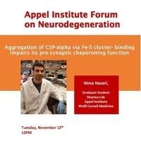 Appel Institute Neurodegeneration Forum