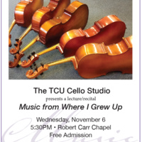 TCU Cello Studio - Lecture/Recital