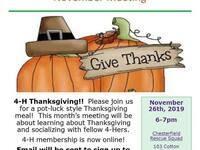 November 4-H Meeting