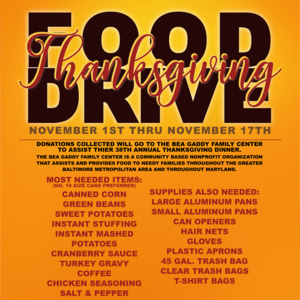 Thanksgiving Food Drive - Du Bois-Diggs Sociological Society