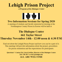 Lehigh Prison Project Information Sessions