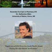 """BES Seminar: """"Rapid Loss of CO2 from the South Pacific Ocean  During the Last Glacial Termination"""""""