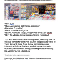 Study Abroad Journalism Opportunity