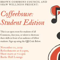 Brown Commons Coffeehouse: Student Edition