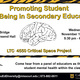 Promoting Student Well-Being in Secondary Education: A Critical Space Project