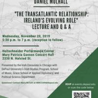 Irish Ambassador to the U.S. Daniel Mulhall: The Transatlantic Relationship: Ireland's Evolving Role