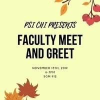PSI CHI: Faculty Meet & Greet