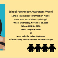 School Psychology Awareness Week Information Night