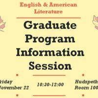 English and American Literature Graduate School Information Session