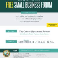 Senator Scott Wilk Small Business Forum