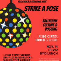 Lunch & Learn -Strike A Pose - Ballroom Culture & Voguing | Pride Center
