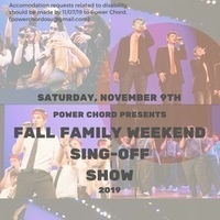 Fall Family Weekend A Cappella Concert