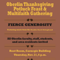 Oberlin Thanksgiving Potluck and Multifaith Gathering