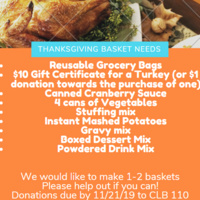 Honors House Thanksgiving Basket Collection