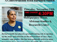 TIME CHANGE!    Black Women's 2020:  A Conversation with Barbara Smith