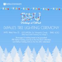 DePaul's Tree Lighting Ceremony