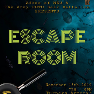 Escape Room with Afros of MSU and ROTC