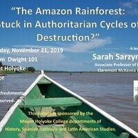 "Sarah Sarzynski: ""The Amazon Rainforest: Stuck in Authoritarian Cycles of Destruction?"""