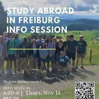 Info Session: Study Abroad in Freiburg, Germany, the Green City in the Black Forest