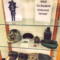 The Things We Carried: Veterans Month Display at Cook Library