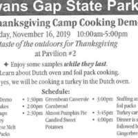 Thanksgiving Camp Fire Cooking with the Friends of Cowans Gap