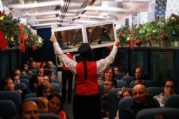 The Polar Express Train Ride - Santa