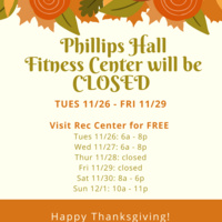 Fitness 4 Life - Fitness Center - Thanksgiving Schedule Changes