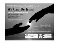"""We Can Be Kind"" - VOICES Mulitcultural Chorus Fall Concert"