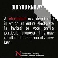 Northeastern College of Professional Studies Referendum Voting!