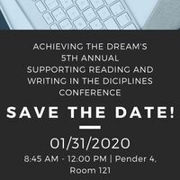 5th Annual Supporting Reading and Writing in the Disciplines Conference