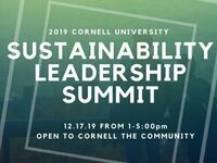 2019 Cornell Sustainability Leadership Summit