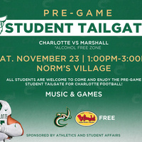 Pre-Game Student Tailgate