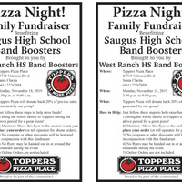 Pizza Night for Saugus HS