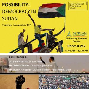 International Education Week 2019: Democracy in Sudan