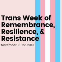 Book display for Trans Week of Remembrance, Resilience and Resistance