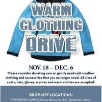 Staff Council Warm Clothing Drive