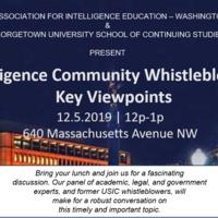Intelligence Community Whistleblowers: Key Viewpoints