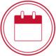 red calendar icon