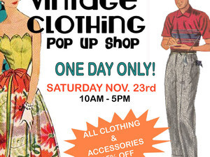 Vintage Clothing & Accessories POP UP