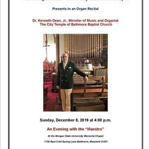 Organ Recital:  Dr. Kenneth Dean, Jr.