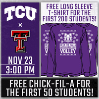 Free Long Sleeve T-Shirt For The First 200 Students & Free Chick-fil-A For The First 50 Students!