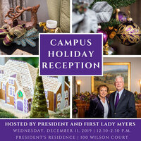 Faculty and Staff Holiday Reception at the  President's Residence