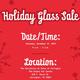 Holiday Glass Art Sale