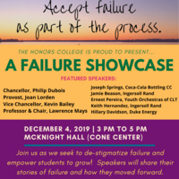 The Honors College invites EVERYONE to A Failure Showcase