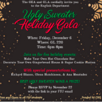 Join us for fun holiday events; With special presentations by:  Richard Blanco, Glenn Hutchinson, & Ana Menéndez. Best ugly sweater wins a prize!