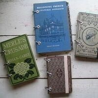 Upcycled Book Journals/Scrapbooks