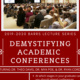 (Flyer for the event featuring the details from the description and a photo of individuals in an academic lecture hall).