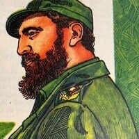 "Castro portrait from ""Zunzún,"" no. 2, 1980."