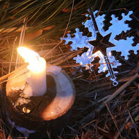 candle and snowflake