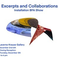 """Reception - """"Excerpts and Collaborations"""" - LaVerne Krause Gallery"""